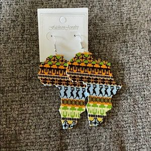 Africa Shaped Earrings African Statement